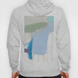 stone by stone 3 - abstract art fresh color turquoise, mint, purple, white, gray Hoody