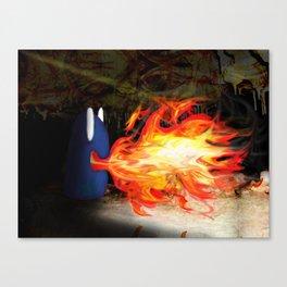 Fire Monster Design Canvas Print