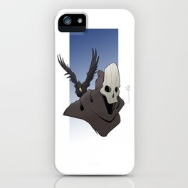 The Skull and the Raven iPhone Case