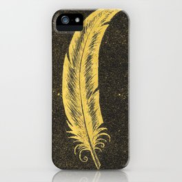 Yellow Feather iPhone Case