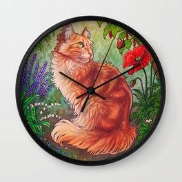 Garden Cat Wall Clock