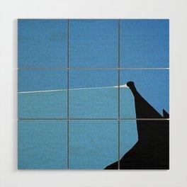 Minimalist Blue Sky Wood Wall Art