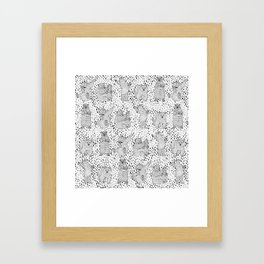 Lazy Bear Framed Art Print