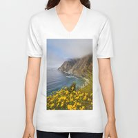 big sur V-neck T-shirts featuring Big Sur in Bloom, California 1 by gypsysoulshots