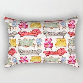 Victorian Lounge – Rainbow Palette Rectangular Pillow