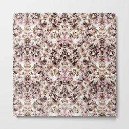 Sweet Pea Petals Half Kaleidoscope Photographic Pattern Metal Print