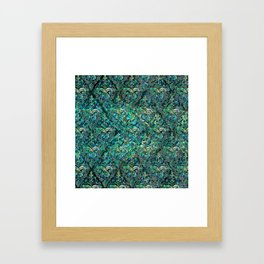 Persian Oriental pattern abalone and silver Framed Art Print
