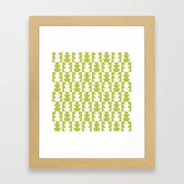 Art Deco Jagged Edge Pattern Chartreuse Framed Art Print