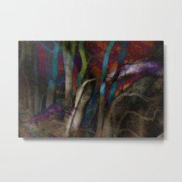 Funky Woods - JUSTART © Metal Print