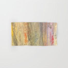 Streaks of Sunset Raining Down: Abstract Art Hand & Bath Towel