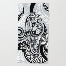 Polynesian FLORAL Tribal Threads Beach Towel