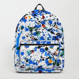 Abstract #23 - Frenzy in Blue Backpack