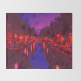 Psychedelic Amsterdam Throw Blanket