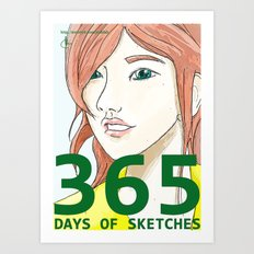 365 Days of Sketches: Number #135 Art Print