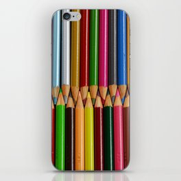 Colorful pencil crayons iPhone Skin