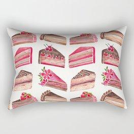 Cake Slices – Pink & Brown Palette Rectangular Pillow