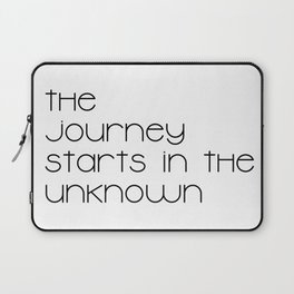 The Journey Starts in the Unknown (Black) Laptop Sleeve