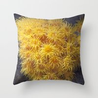 coral Throw Pillows featuring Coral by Deborah Janke