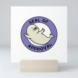 Seal Of Approval Cute Sea Lion Pun Mini Art Print