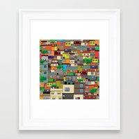 rio de janeiro Framed Art Prints featuring Favela, Rio de Janeiro by Rceeh