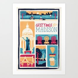 Greetings from Madison Art Print
