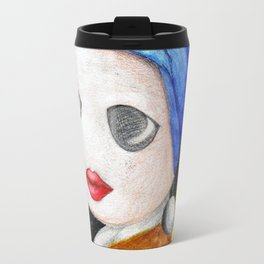 Toon With A Pearl Earing Travel Mug