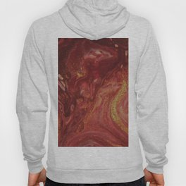 Fluid Nature - The Heat of Flames - Abstract Acrylic Pour Art Hoody