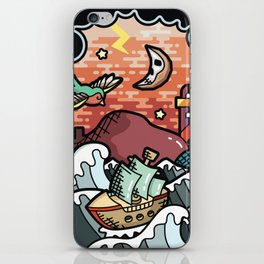 Storm landscape iPhone Skin