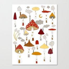 mushroom homes Canvas Print
