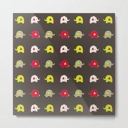 Elephant pattern Metal Print