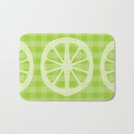 Lime Gingham Bath Mat