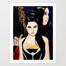 Evanescence Amy Lee Harp Painting  Art Print