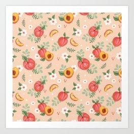Peaches on Peach Art Print