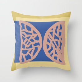 Lacey Wedge-Butterfly Abstract Throw Pillow