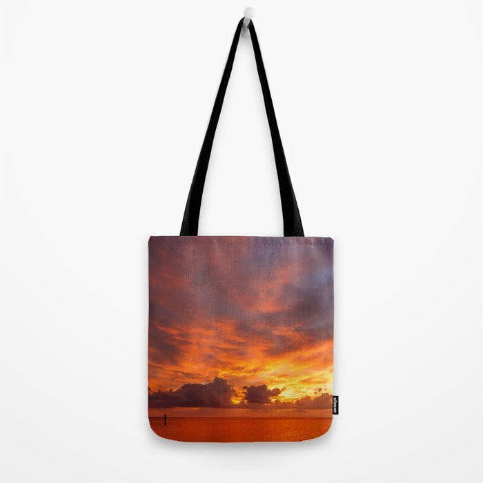 Burning Sunset Tote Bag