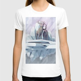 Deer Low Poly Poster, Deer poster, wall art, deer print T-shirt