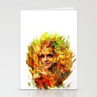 emma watson Stationery Cards featuring Emma Watson by ururuty