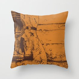 Trigger - Acoustic Guitar - Willie Nelson Throw Pillow