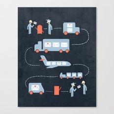 Postal Service Canvas Print