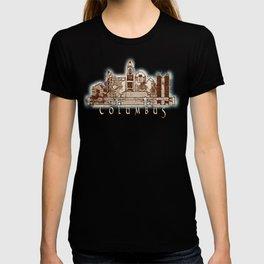 Columbus City, Ohio Skyline Graphic T-shirt