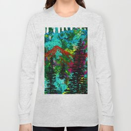 Go Wild - Mountain - Abstract painting Long Sleeve T-shirt