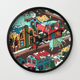 This Place is a Zoo! Wall Clock