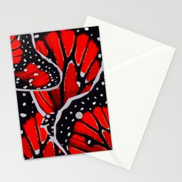 red monarch Stationery Cards