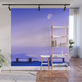 Above The Clouds, Under The Moon Wall Mural