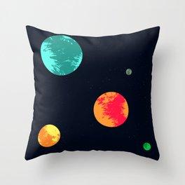 Interstellar galaxy Throw Pillow