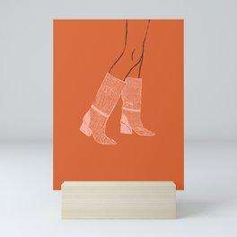Pink Boots Mini Art Print