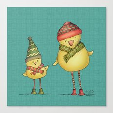 Two Chicks Canvas Print