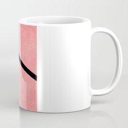 Chevron - Peach/Black, Textured Coffee Mug