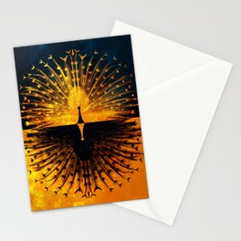 Peacock - Mad Men inspired Stationery Cards