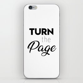 Turn the page iPhone Skin